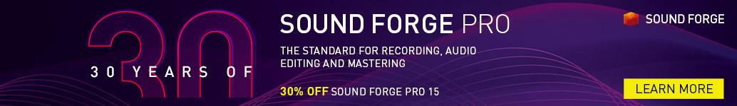 Magix Sound Forge: 30th Anniversary