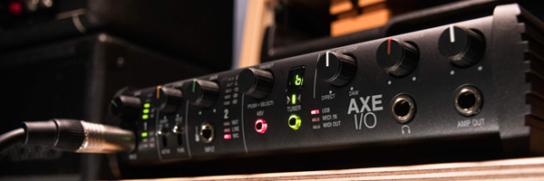 AXE I/O premium audio interface with advanced guitar tone shaping