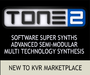 NEW TO KVR MARKETPLACE - TONE2