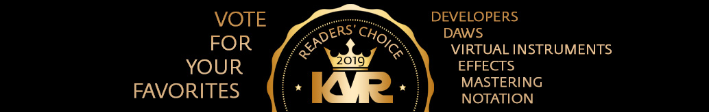KVR Audio Readers' Choice Awards 2019