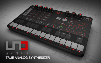 UNO Synth analog synthesizer - now with full ADSR control on the panel and Mac/PC/iOS/plugin editor