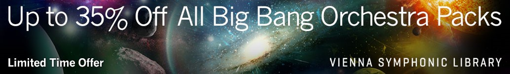 VSL : Up to 35% off all Big Bang Orchestra packs