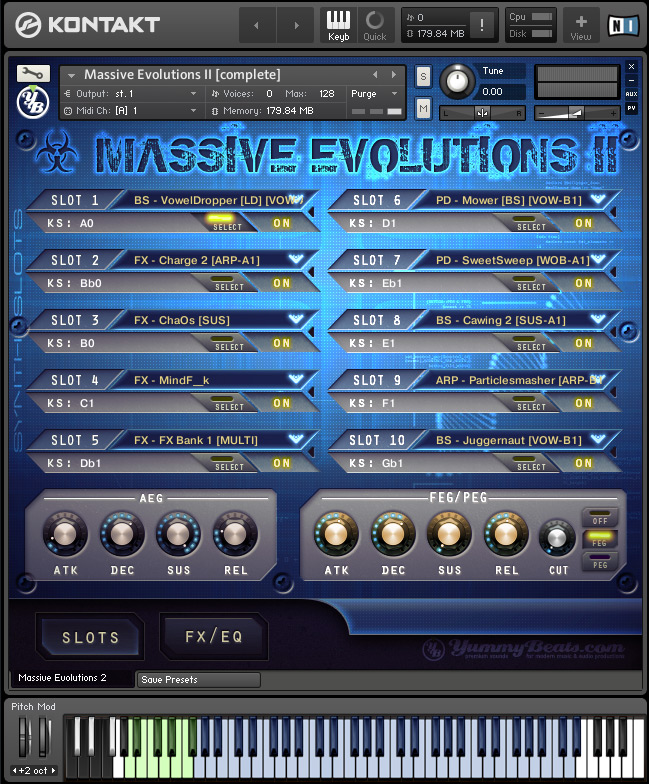 Massive Side FX - Dubstep Sound Pack for the MEII