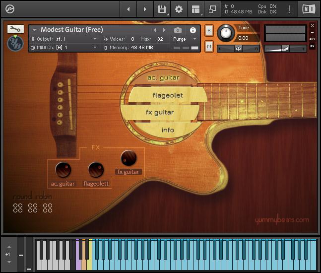 kvr yummybeats releases modest guitar free for kontakt 5 finger picked acoustic guitar. Black Bedroom Furniture Sets. Home Design Ideas