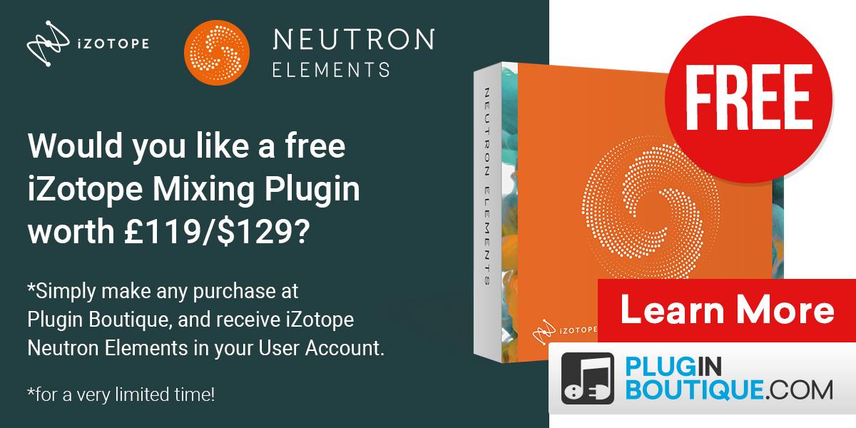 PLUGIN BOUTIQUE FREE - Would you like iZotope Ozone 8