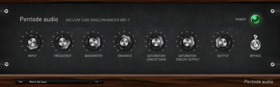 Pentode audio VBE-1 - vacuum tube analog bass enhancer: 123creative.com