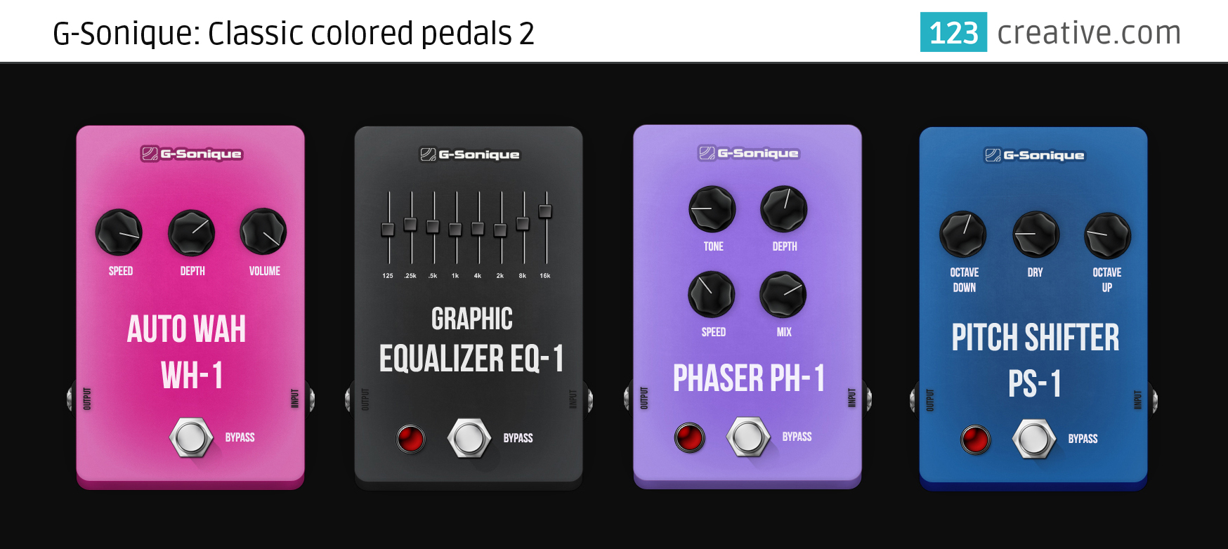 G-Sonique: Classic colored pedals 2: 123creative.com