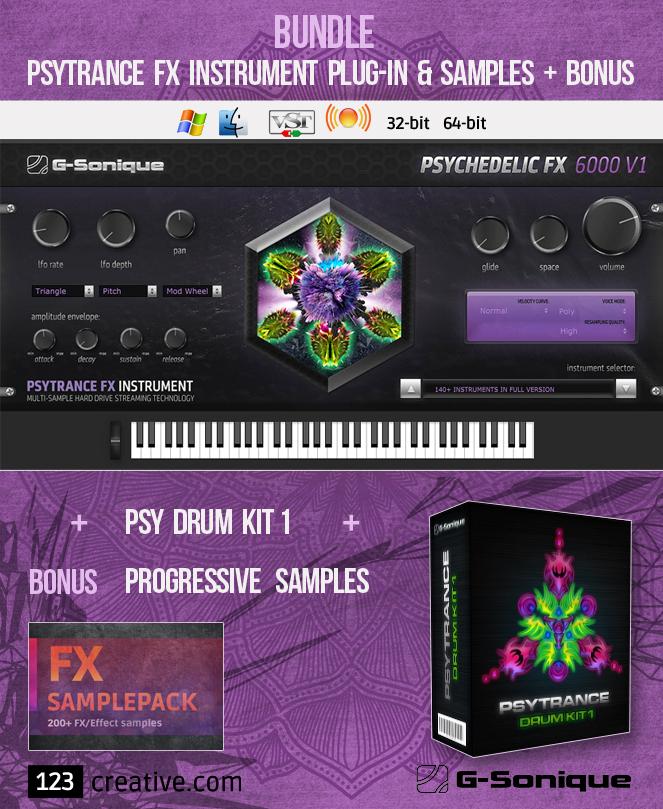 KVR: G-Sonique bundle: Psytrance FX instrument plug-in