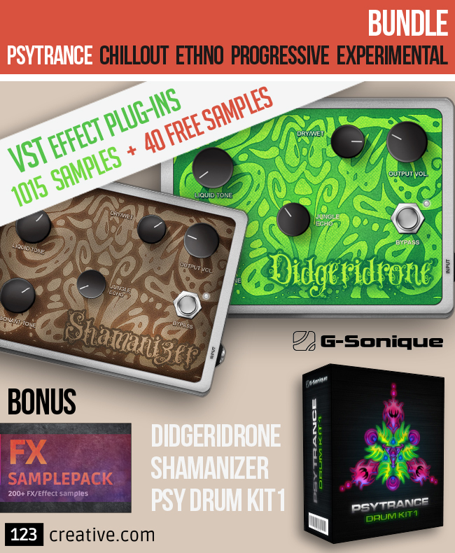 G-Sonique: Psytrance VST effect plug-ins & Samples bundle + 40 Progressive Samples FREE