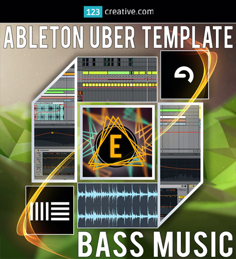 Uber Template Bass Music - Ableton Live template + Bass music Sample pack