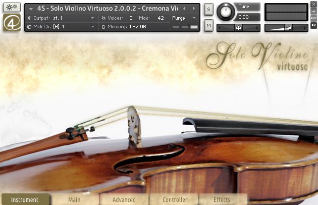 KVR: Solo Violino Virtuoso by 4scoring - Solo Violin VST