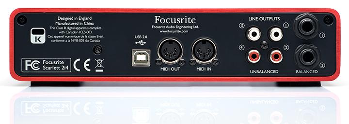 kvr scarlett 2i4 by focusrite audio midi interface. Black Bedroom Furniture Sets. Home Design Ideas