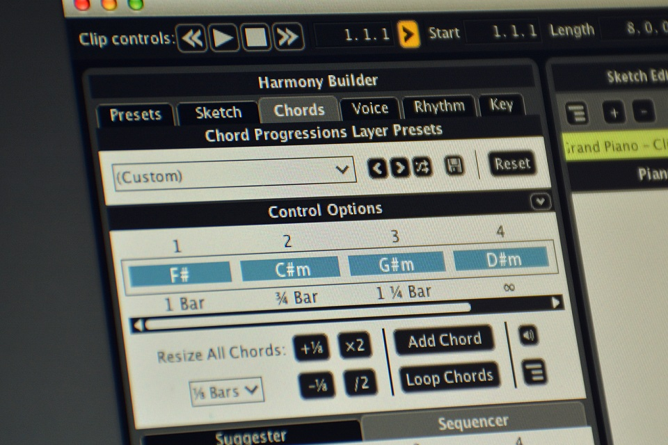 KVR: Liquid Music by WaveDNA - MIDI Editor / Pattern