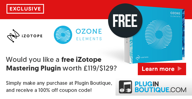 kvr kvrdeal izotope ozone 8 elements free with any purchase at plugin boutique from 1. Black Bedroom Furniture Sets. Home Design Ideas
