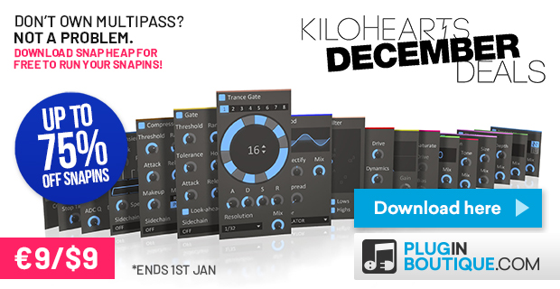 KVR: #KVRDeal kiloHearts Snapins €9/$9 Sale at Plugin Boutique