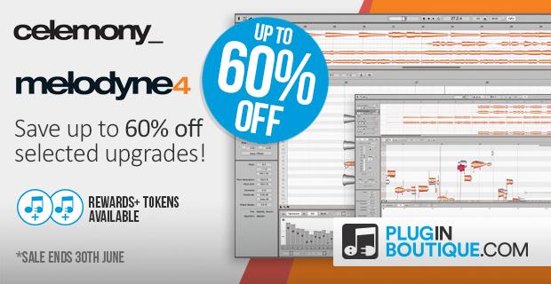 KVR: #KVRDeal Celemony Melodyne Upgrade Sale (Up to 60%) at Plugin