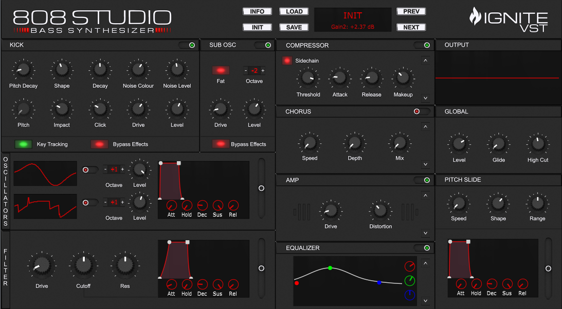 KVR: 808 STUDIO by Initial Audio - Synth VST Plugin and