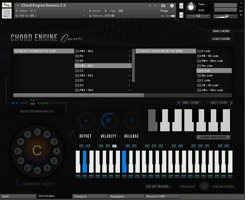 KVR: Chord Engine Genesis 2 0 by ProduceRNB - chord engine VST