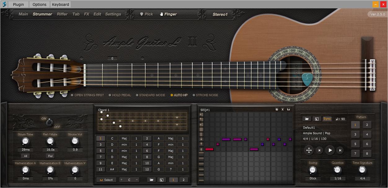 kvr agl ii by ample sound classic guitar vst plugin audio units plugin rtas plugin and aax. Black Bedroom Furniture Sets. Home Design Ideas