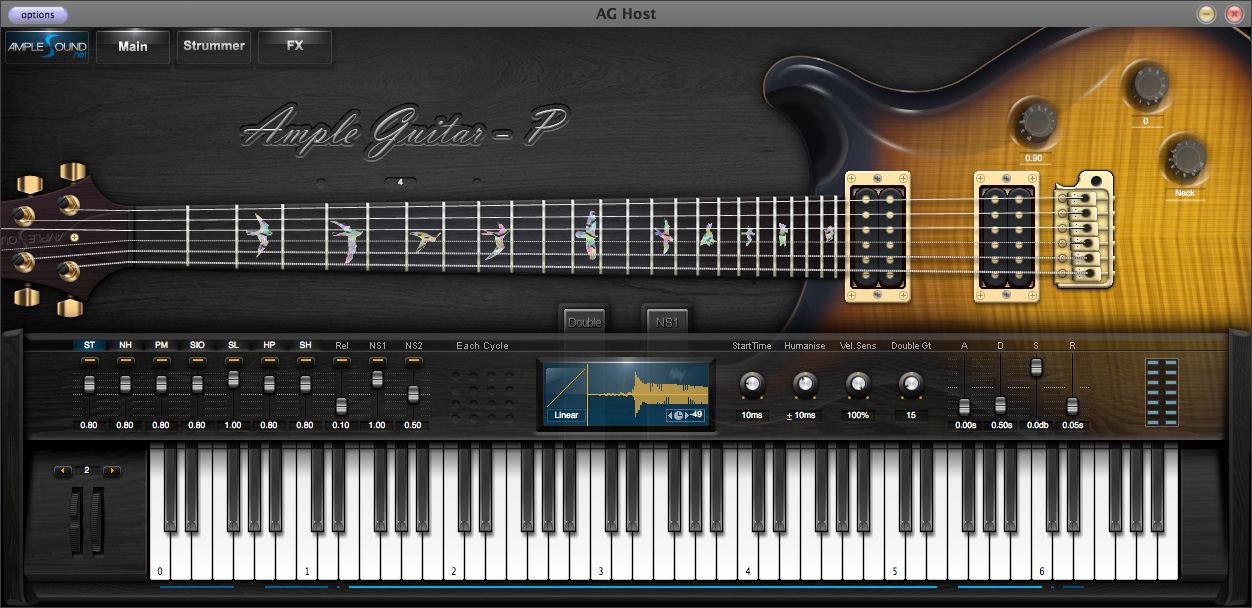guitarra sampler: