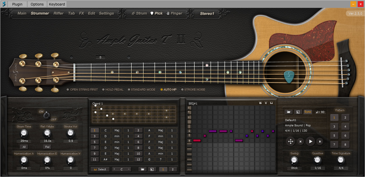kvr agt ii by ample sound acoustic guitar vst plugin audio units plugin rtas plugin and aax. Black Bedroom Furniture Sets. Home Design Ideas