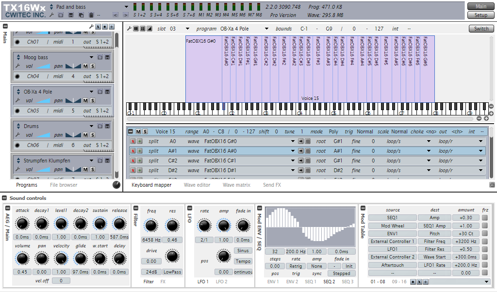 KVR: CWITEC releases TX16Wx Software Sampler 2 2 0 for Win and Mac