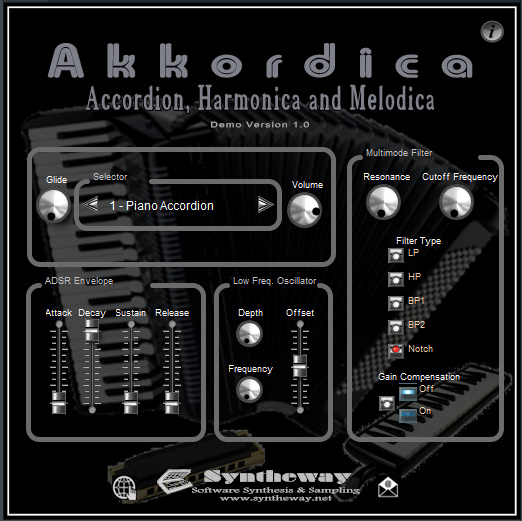 Akkordica Virtual Accordion, Harmonica and Melodica