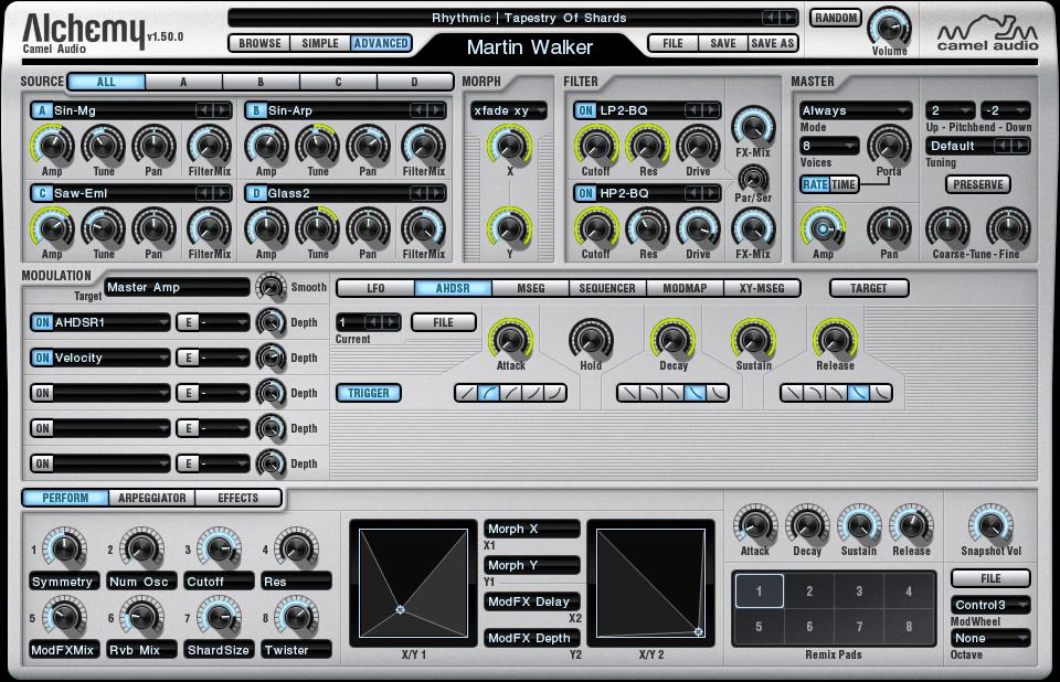 KVR: Alchemy by Camel Audio - Synth (Hybrid) VST Plugin, Audio Units