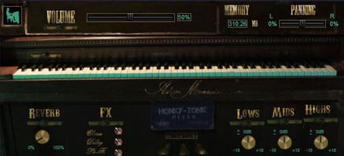 Adam Monroe's Honky Tonk Piano VST