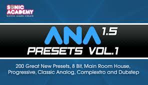 ANA 1.5 Presets Volume 1