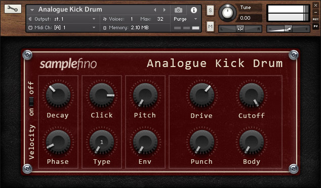 Analogue Kick Drum