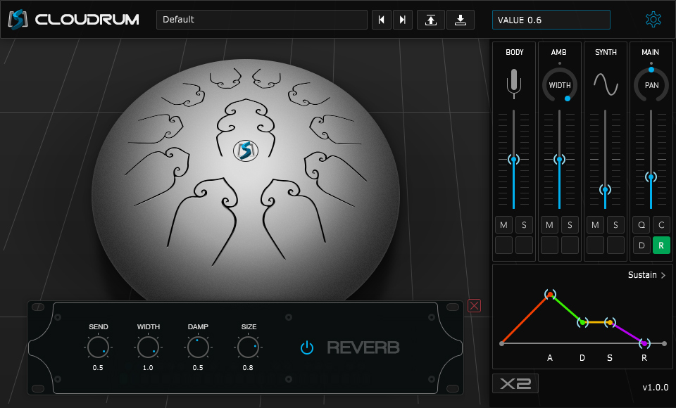 kvr cloudrum by ample sound steel tongue drum vst plugin audio units plugin and aax plugin. Black Bedroom Furniture Sets. Home Design Ideas
