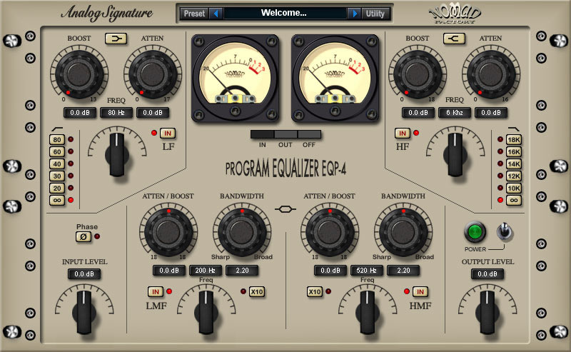 Analog Signature Program Equalizer EQP-4