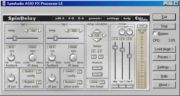 KVR: ASIO FX Processor LE by SpinAudio - Plug-in Chainer / Rack