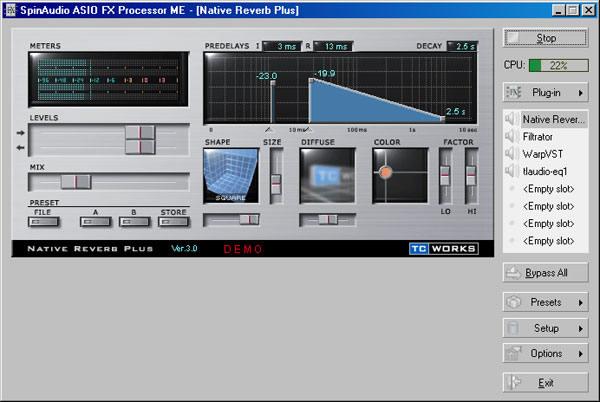 ASIO FX Processor ME