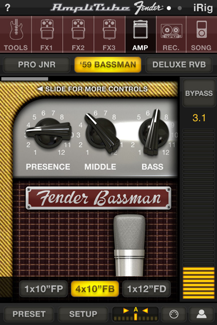 AmpliTube Fender for iPhone
