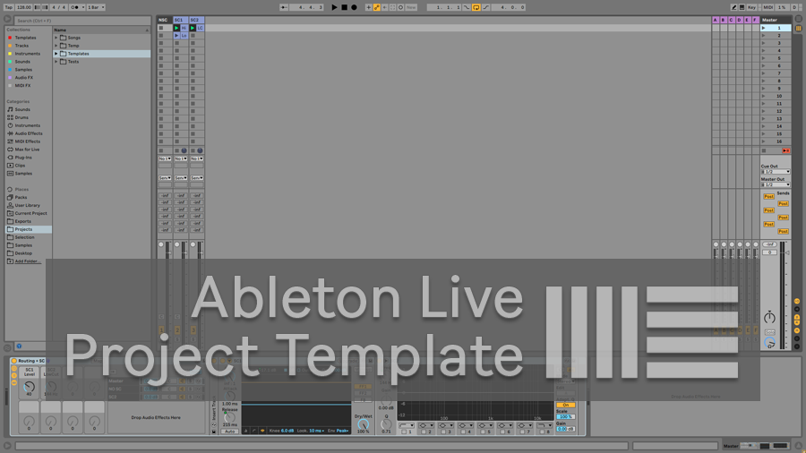 Auto SC on Master template for Ableton Live