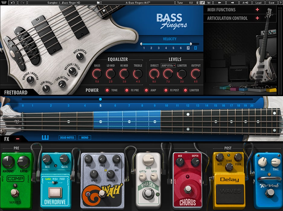 KVR: Bass Fingers by Waves - Bass VST Plugin, Audio Units