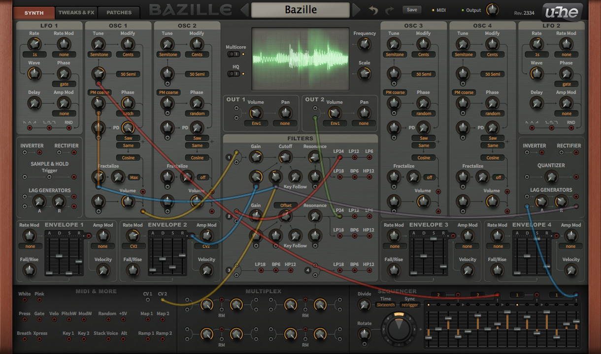 kvr u he releases bazille 1 0 hybrid modular synth for mac win in vst2 au and aax formats. Black Bedroom Furniture Sets. Home Design Ideas