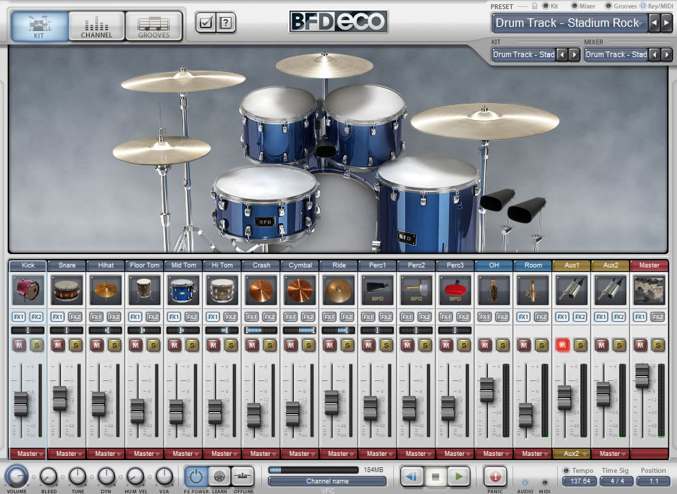 KVR: BFD Eco by FXpansion - Acoustic Drum Module VST Plugin, Audio