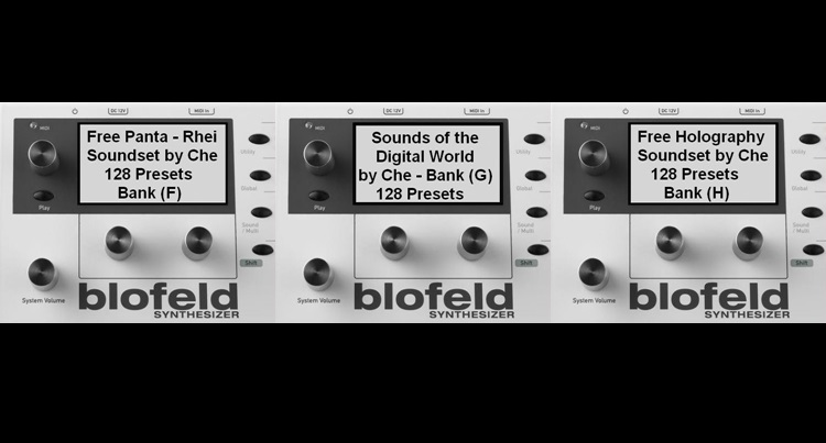 The Waldorf Blofeld Soundbank Trio