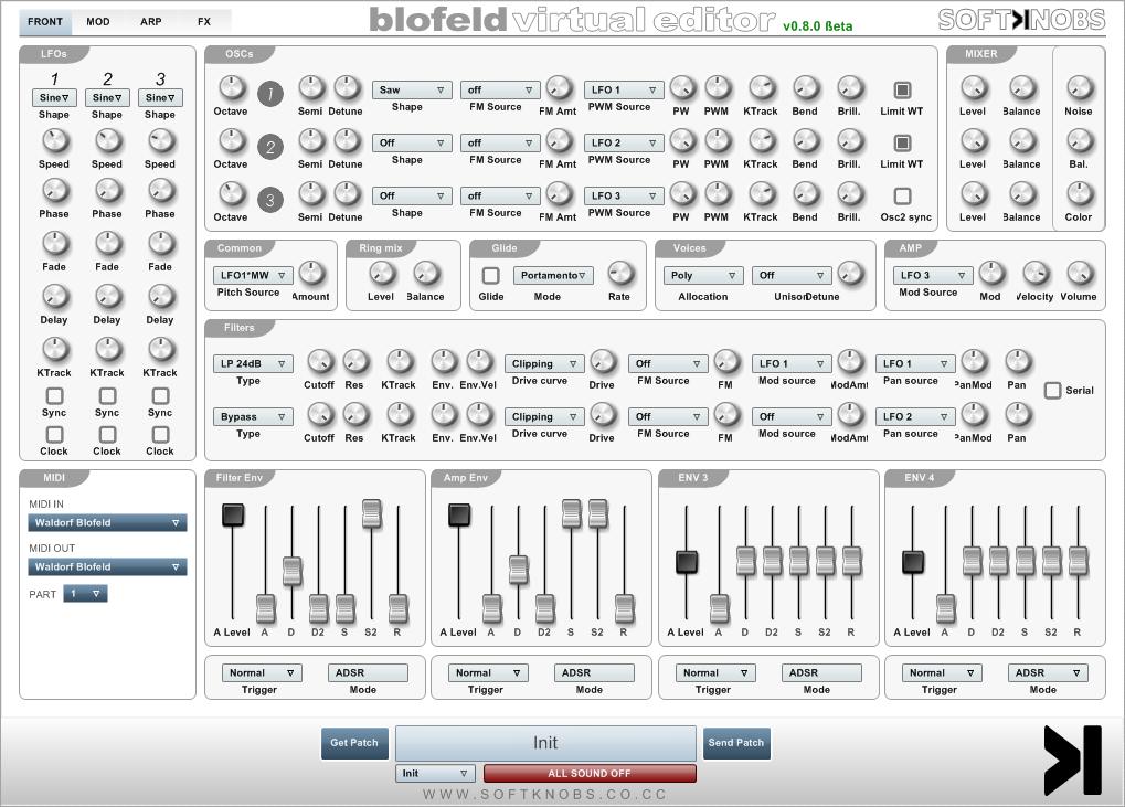 Blofeld Virtual Editor