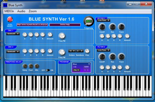 Blue Synth - Pulse width modulation