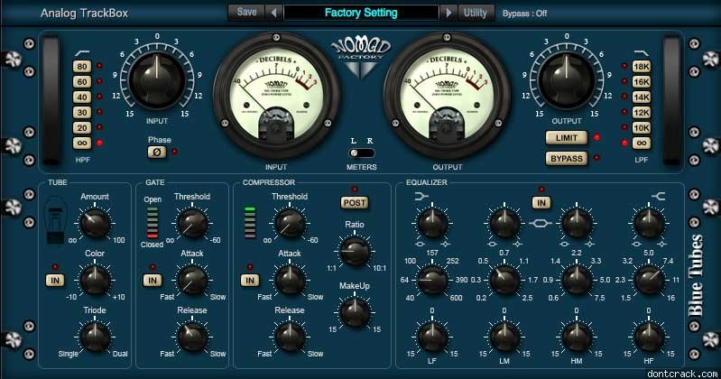 Blue Tubes Analog TrackBox