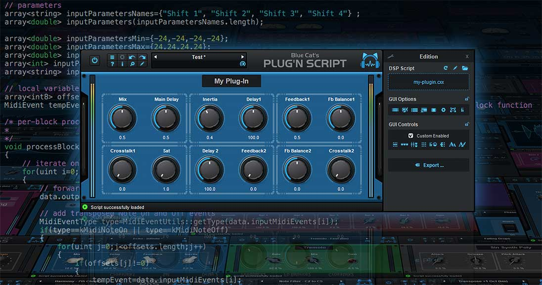 KVR: Blue Cat Audio Releases Blue Cat's Plug'n Script 3 2