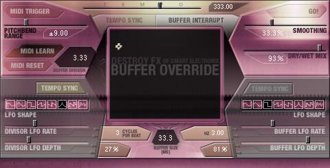 DFX Buffer Override