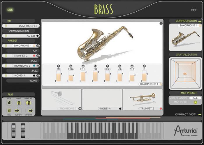 Arturia Brass VSTi RTAS v2.0.صدای ترومپت ، ترومبون و ساکسیفون