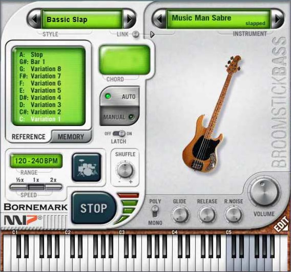 KVR: Broomstick Bass by Bornemark - Bass Player VST Plugin
