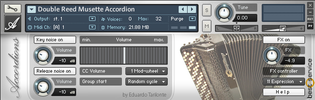 KVR: Accordions by Best Service - Accordion VST Plugin