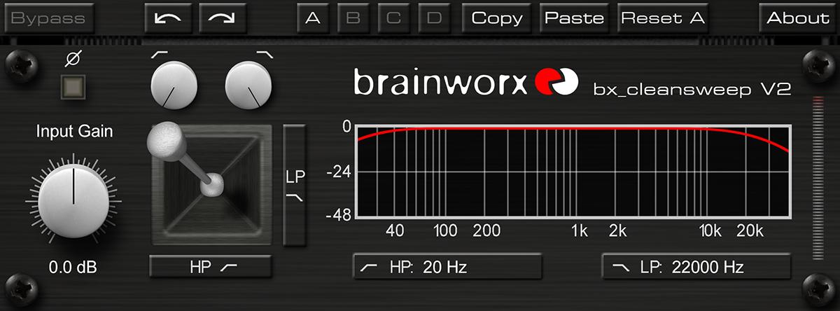 KVR: Brainworx bx_cleansweep V2 by Plugin Alliance - Hi-Pass